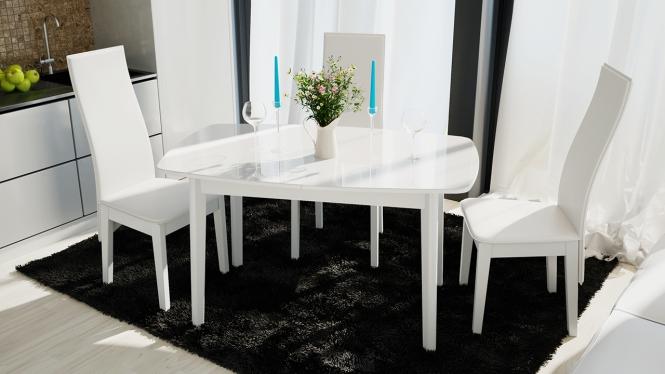 Стол обеденный «Портофино» (Белый)
